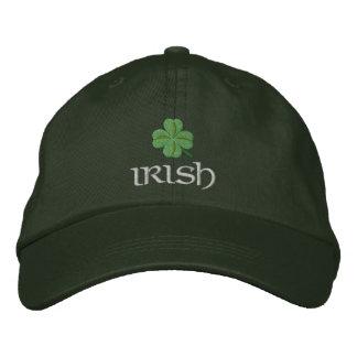 愛国心が強いアイルランドのシャムロック 刺繍入りキャップ
