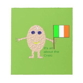 愛国心が強いアイルランドの卵のメモ帳 ノートパッド