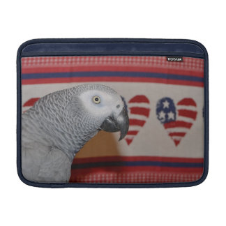 愛国心が強いアフリカ灰色のオウムのMacBookの空気袖 MacBook スリーブ