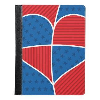 愛国心が強いアメリカのハート iPadケース