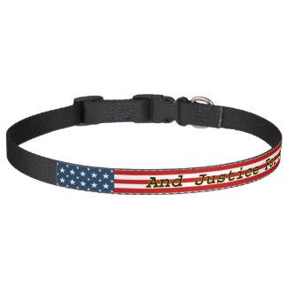 [愛国心が強いアメリカ人の]星Nは米国の旗を縞で飾ります ペット首輪