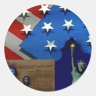 愛国心が強いアメリカ ラウンドシール