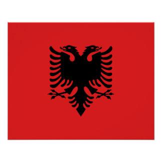 愛国心が強いアルバニアの旗 ポスター