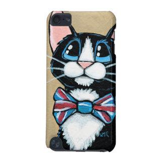 愛国心が強いイギリスのタキシード猫の身に着けているちょうネクタイの絵画 iPod TOUCH 5G ケース
