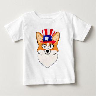 愛国心が強いウェルシュコーギー ベビーTシャツ
