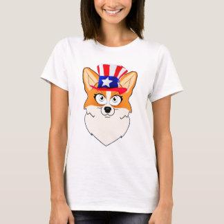 愛国心が強いウェルシュコーギー Tシャツ