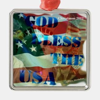 愛国心が強いクリスマスのオーナメント メタルオーナメント