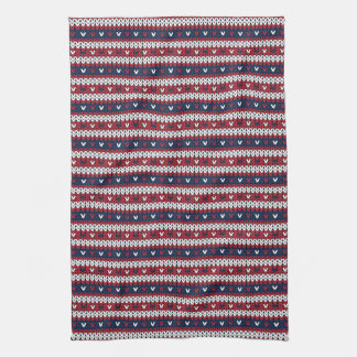愛国心が強いクリスマスのセーターパターン キッチンタオル