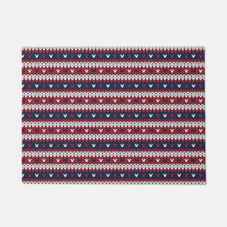 愛国心が強いクリスマスのセーターパターン ドアマット
