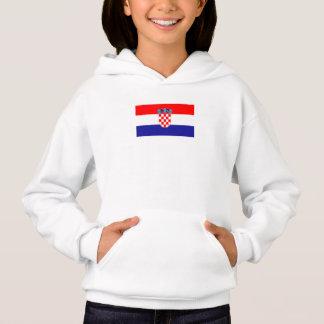 愛国心が強いクロアチアの旗
