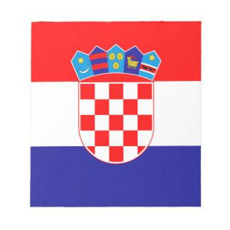 愛国心が強いクロアチアの旗 ノートパッド