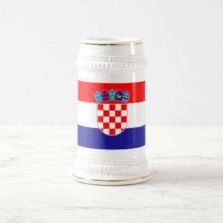 愛国心が強いクロアチアの旗 ビールジョッキ