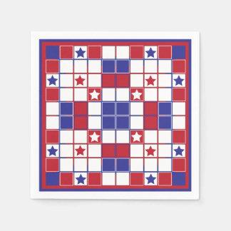 愛国心が強いクロスワードパズルのナプキン スタンダードカクテルナプキン
