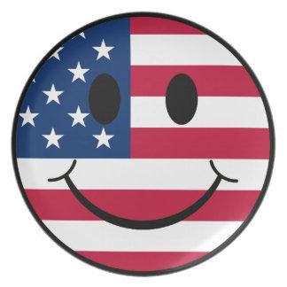 愛国心が強いスマイリー プレート