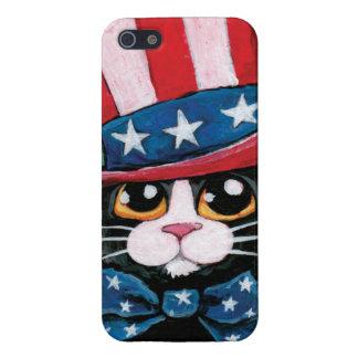 愛国心が強いタキシード猫の絵画 iPhone 5 CASE