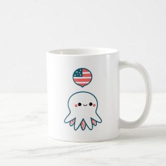 愛国心が強いタコ コーヒーマグカップ
