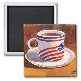 愛国心が強いティーカップの星及びストライプな磁石 マグネット