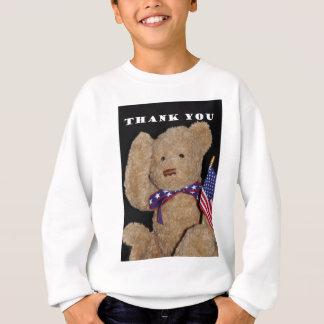 愛国心が強いテディー・ベアありがとう スウェットシャツ