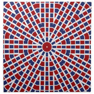 愛国心が強いナプキン赤い白くおよび青 ナプキンクロス