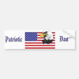 愛国心が強いパパか父の日 バンパーステッカー