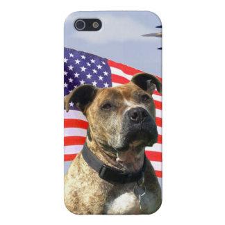 愛国心が強いピットブル犬 iPhone 5 ケース