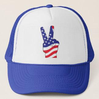 愛国心が強いピースサイン米国 キャップ