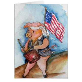愛国心が強いブタ カード