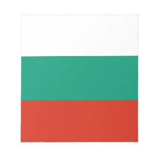 愛国心が強いブルガリアの旗 ノートパッド