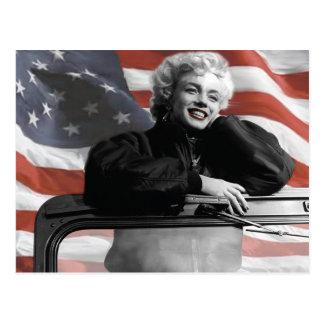愛国心が強いマリリン ポストカード