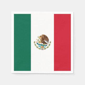 愛国心が強いメキシコ旗 スタンダードカクテルナプキン