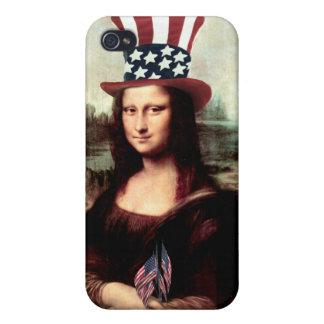 愛国心が強いモナ・リザ-独立記念日の間用意して下さい iPhone 4/4Sケース