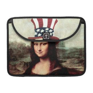 愛国心が強いモナ・リザ-独立記念日の間用意して下さい MacBook PROスリーブ