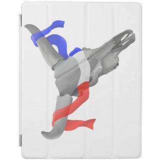 愛国心が強いリボンが付いている牛スカル iPadスマートカバー