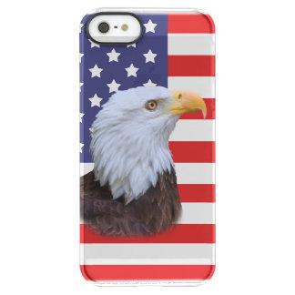 愛国心が強いワシおよびカスタマイズ可能な米国の旗 PERMAFROST iPhone SE/5/5sケース
