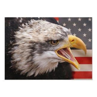 愛国心が強いワシの招待状 カード