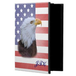 愛国心が強いワシ、米国の旗、カスタマイズ可能なモノグラム POWIS iPad AIR 2 ケース