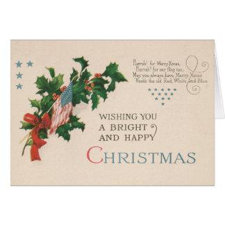 愛国心が強いヴィンテージのクリスマスカード カード
