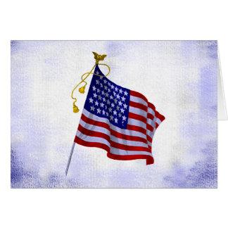 愛国心が強いヴィンテージ米国の旗のブランクの芸術カード カード