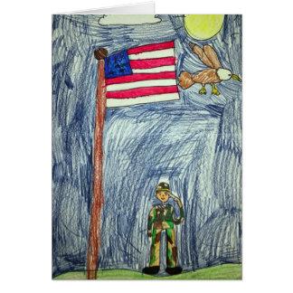 愛国心が強い兵士カード- Ayla著芸術 カード