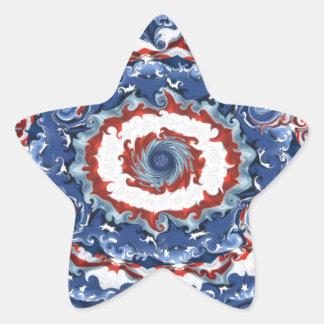 愛国心が強い可塑性 星シール