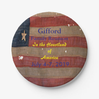 愛国心が強い家族会米国の旗 ペーパープレート