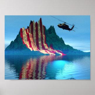 愛国心が強い山 ポスター