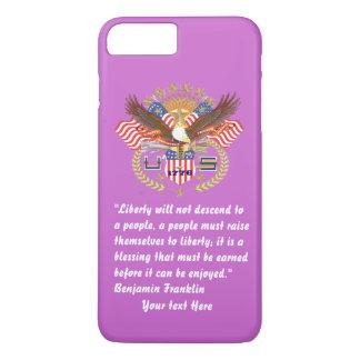 愛国心が強い平和森林バイオレット iPhone 8 PLUS/7 PLUSケース