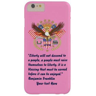 愛国心が強い平和森林ピンク BARELY THERE iPhone 6 PLUS ケース