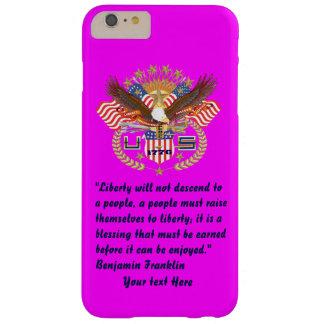 愛国心が強い平和森林マゼンタ BARELY THERE iPhone 6 PLUS ケース