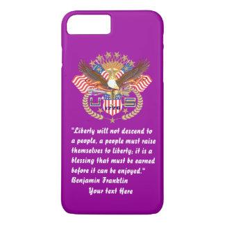 愛国心が強い平和森林深いバイオレット iPhone 8 PLUS/7 PLUSケース