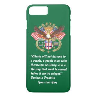 愛国心が強い平和深緑色のiPhone 7 iPhone 8 Plus/7 Plusケース