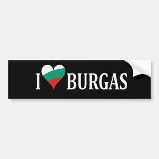 愛国心が強い愛Burgas バンパーステッカー