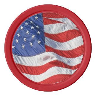 愛国心が強い振る米国旗 ポーカーチップ