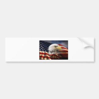 愛国心が強い旗およびワシ バンパーステッカー